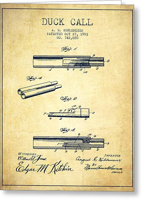 Duck Call Patent From 1903 - Vintage Greeting Card by Aged Pixel