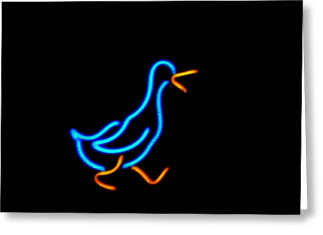 Duck Room Mascot Greeting Card by Kelly Awad