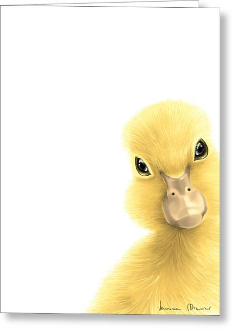 Duck Greeting Card by Veronica Minozzi