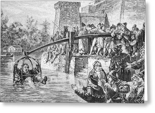 Ducking Punishment, Historical Artwork Greeting Card