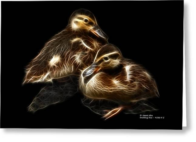 Duckling Duo - 9530 F C Greeting Card