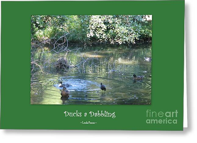 Ducks A Dabbling Greeting Card
