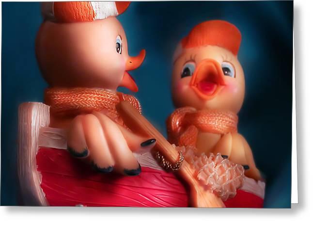 Ducks Greeting Card by Diane Bradley