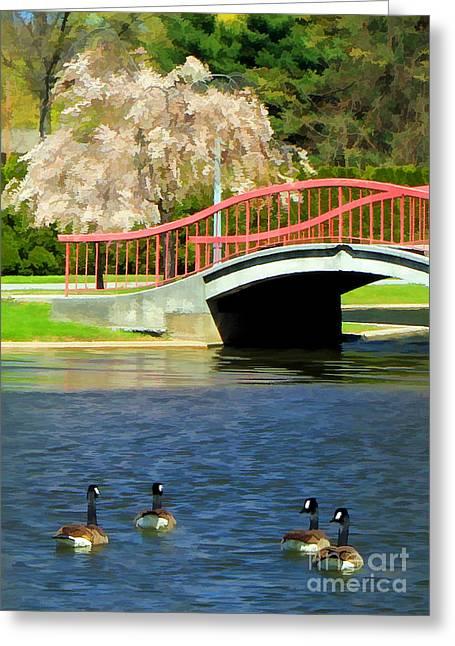 Springtime On The Lake Greeting Card