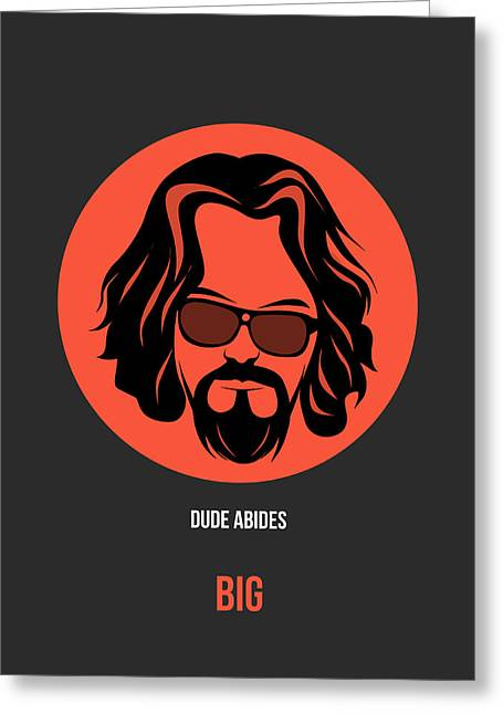 Dude Poster 1 Greeting Card by Naxart Studio