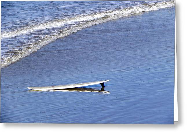 Greeting Card featuring the photograph Dude Where Is My Surfer by Kathy Churchman