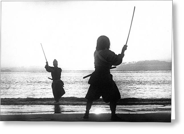 Duel On Ganryu Island Greeting Card