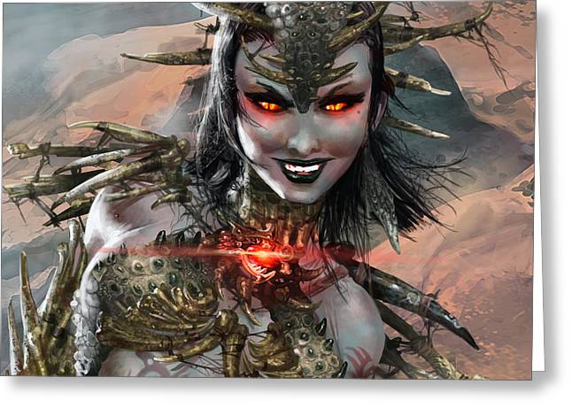 Duels Of The Planeswalkers 2014 Persona Ten Greeting Card