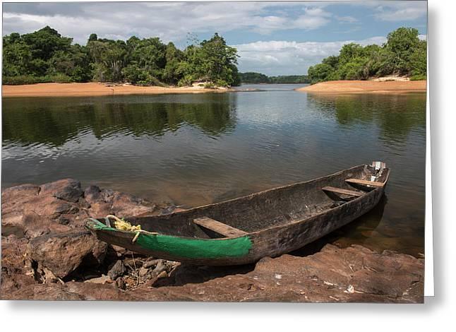 Dugout Canoe Fairview, Iwokrama Greeting Card