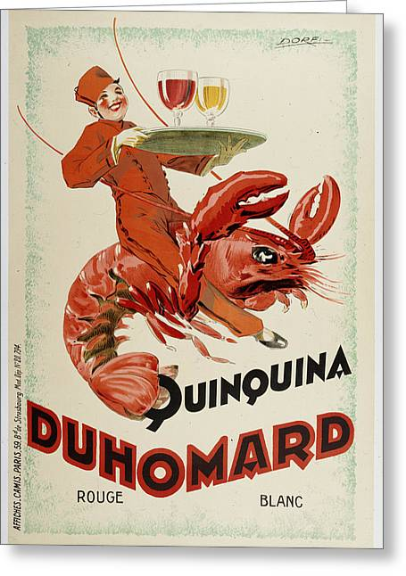 Duhomard Greeting Card by Vintage Images