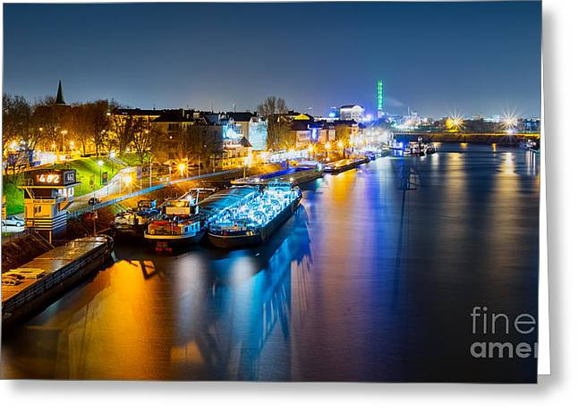 Duisburg Rhine East Bank Dammst Greeting Card