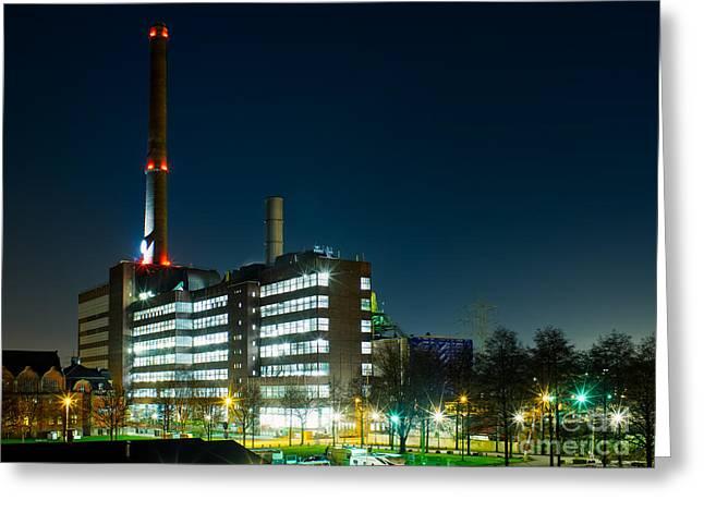 Duisburg Thyssen Krupp Factory Apostel Street Greeting Card
