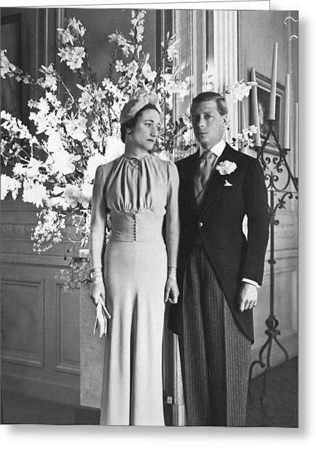 Duke And Duchess Of Windsor Greeting Card