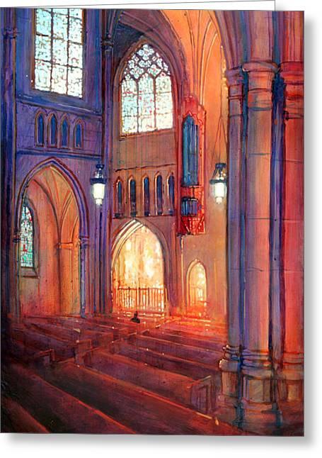 Duke Chapel Interior Greeting Card