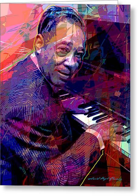 Duke Ellington At The Piano Greeting Card