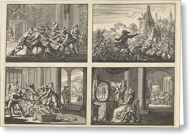 Duke Of Guise Murdered In The Castle At Blois, 1588 Greeting Card