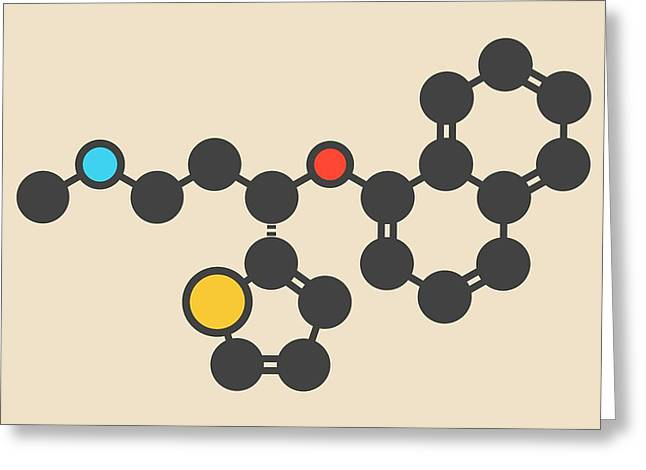 Duloxetine Antidepressant Drug Molecule Greeting Card