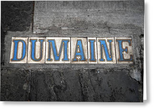 Dumaine Greeting Card