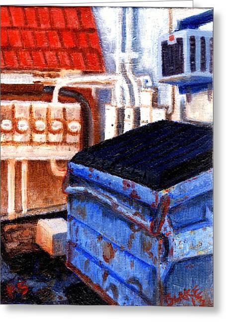 Dumpster No.5 Greeting Card by Blake Grigorian