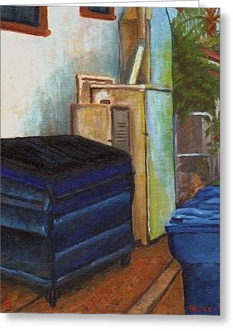 Dumpster No.6 Greeting Card by Blake Grigorian