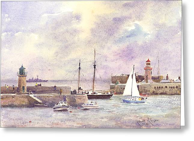 Dun Laoghaire Harbour County Dublin Greeting Card by Keith Thompson