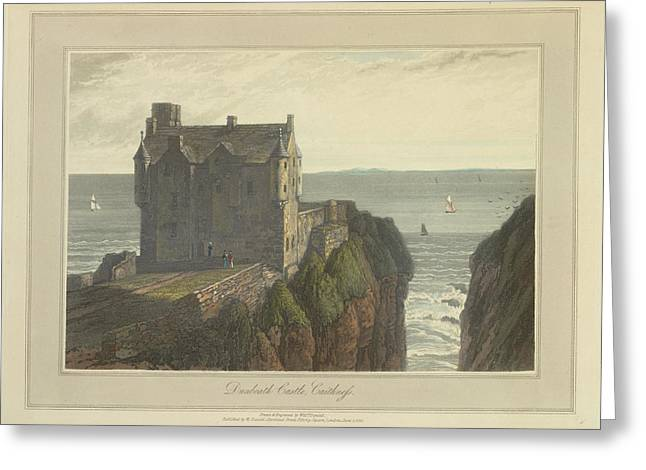 Dunbeath Castle In Caithness Greeting Card by British Library