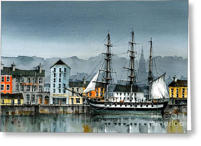 Dunbrody Famine Ship  In New Ross Greeting Card