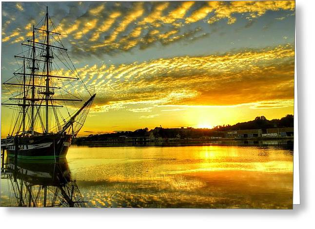 Dunbrody Famine Ship Greeting Card