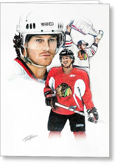 Duncan Keith Greeting Card by Jerry Tibstra