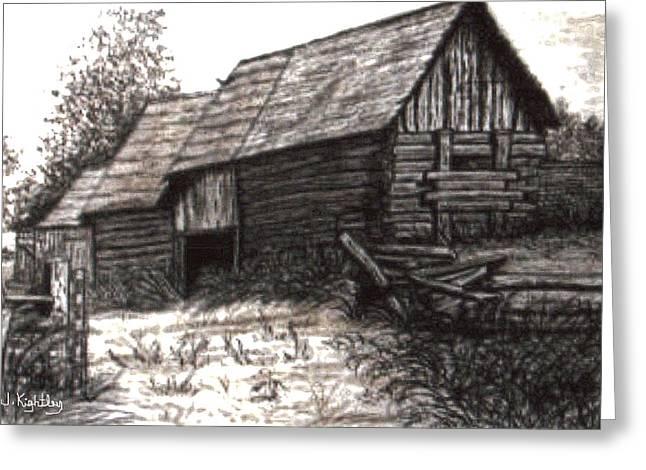 Dunchurch Farm Greeting Card by Wanda Kightley