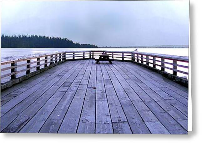 Dundarave Bridge Panorama Greeting Card