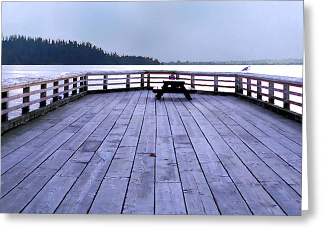 West Vancouver Dundarave Triptych Centre Panel Greeting Card