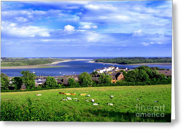 Dundrum Bay Irish Coastal Scene Greeting Card by Nina Ficur Feenan