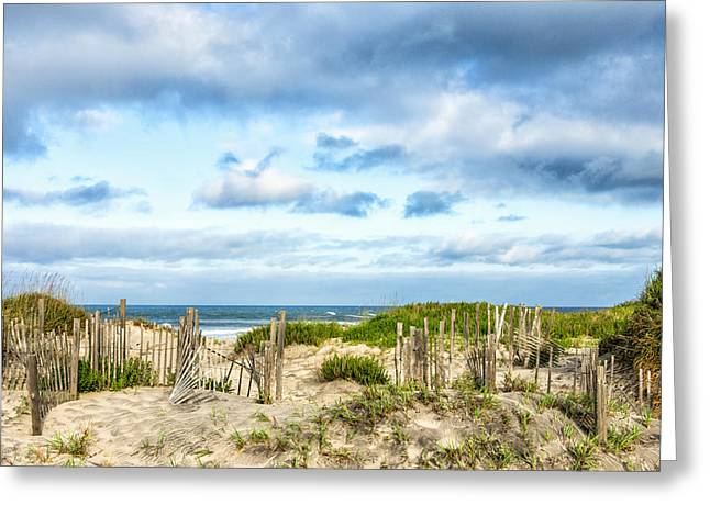 Greeting Card featuring the photograph Dune At Coquina Beach by Gregg Southard