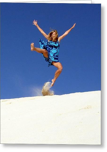 Dune Dance Greeting Card by Ramona Johnston