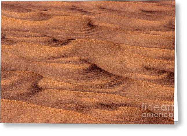 Dune Patterns - 248 Greeting Card by Paul W Faust -  Impressions of Light