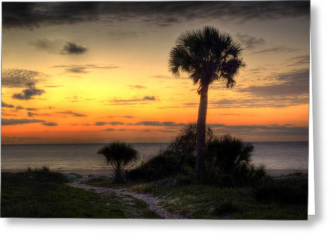 Dune Trail At Sunrise Greeting Card by Greg and Chrystal Mimbs