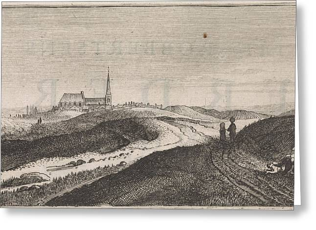 Dunes Near Zandvoort, The Netherlands, Jan Van De Velde II Greeting Card