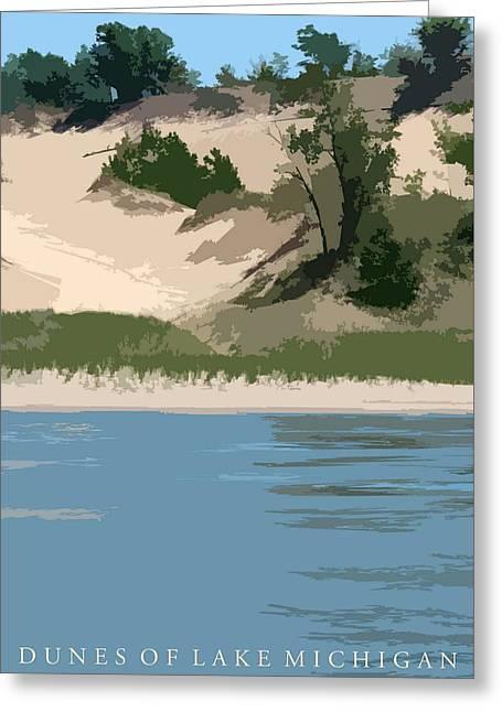 Dunes Of Lake Michigan Greeting Card