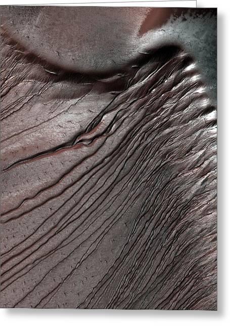 Dunes On Mars Greeting Card by Nasa