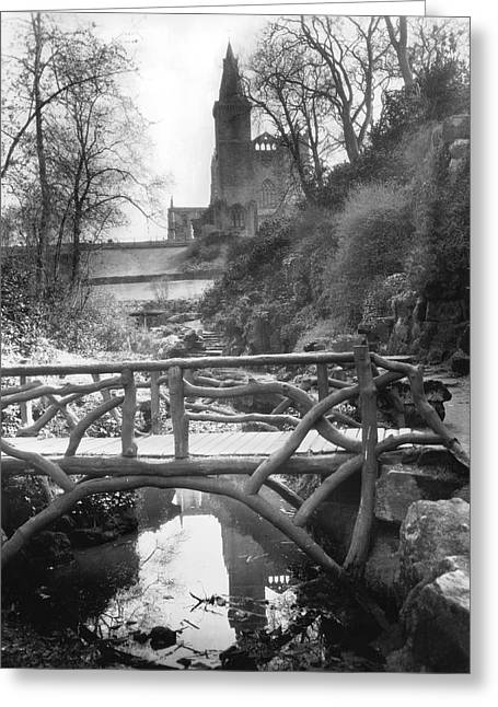Dunfermline Abbey Greeting Card by Underwood Archives