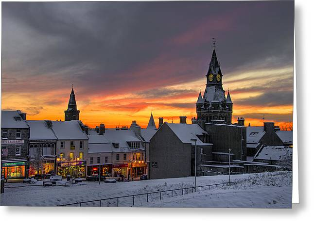 Dunfermline Winter Sunset Greeting Card