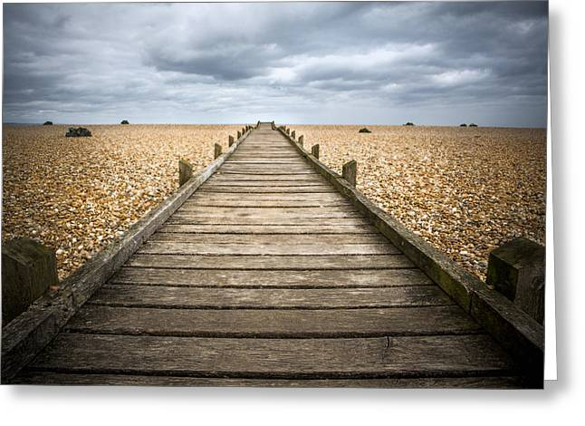 Dungeness Beach Walkway Greeting Card