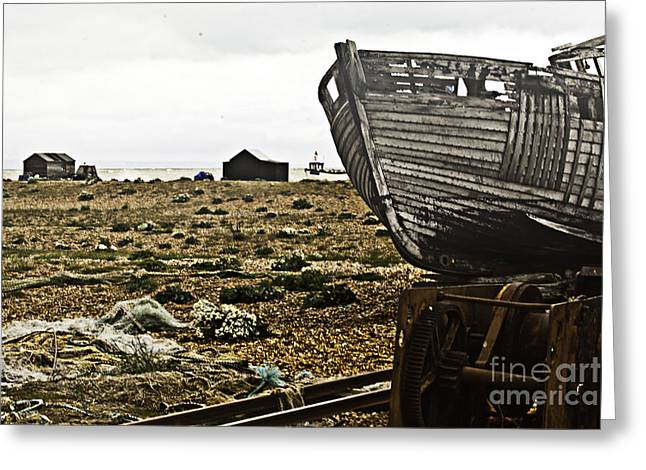 Dungeness Landscape Greeting Card by Lesley Rigg