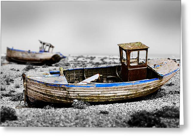 Boat One Greeting Card by Mark Rogan