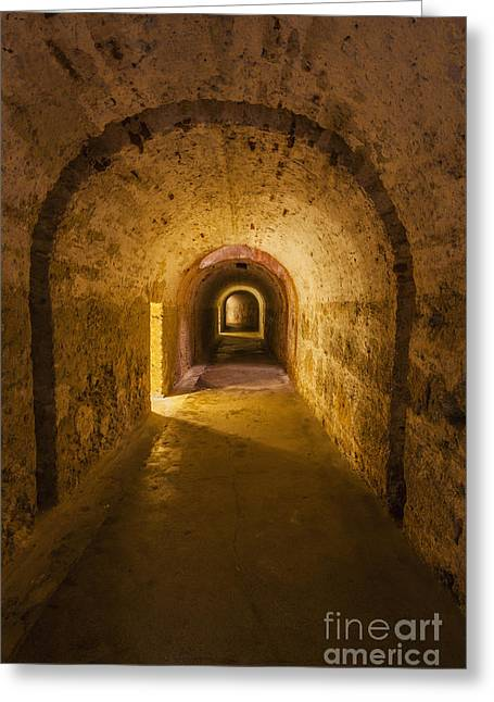 Dungeon At Castillo San Cristobal In Old San Juan Puerto Rico Greeting Card