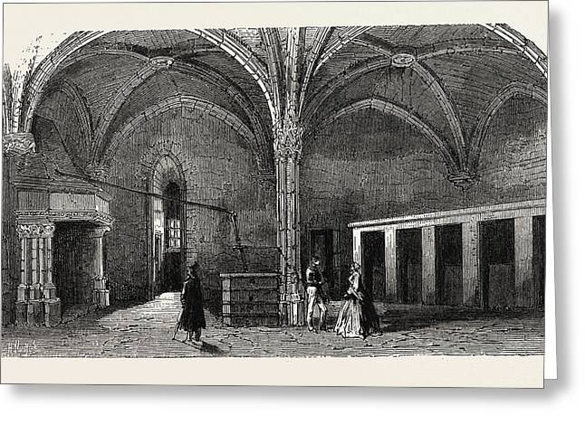Dungeon Of Vincennes Hall Of Cardinals Greeting Card by Litz Collection