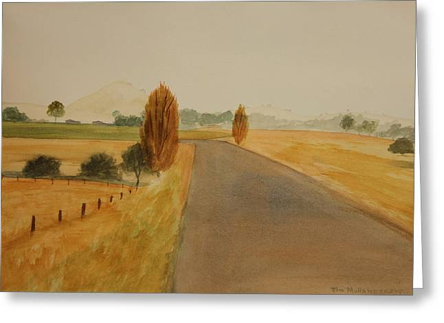 Greeting Card featuring the painting Dungog Area Nsw Australia by Tim Mullaney