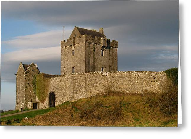 Greeting Card featuring the photograph Dunguire Castle by Kathleen Scanlan