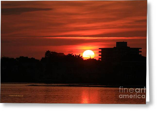 Dunlawton Sunrise Greeting Card by Deborah Benoit